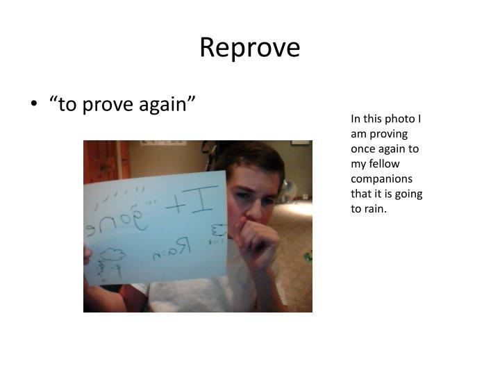 Reprove