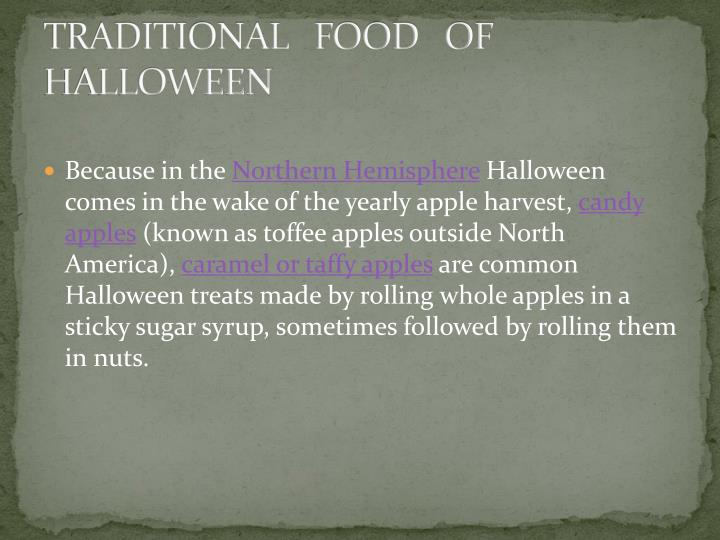 TRADITIONAL   FOOD   OF HALLOWEEN