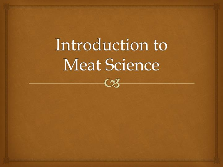 introduction to meat science n.