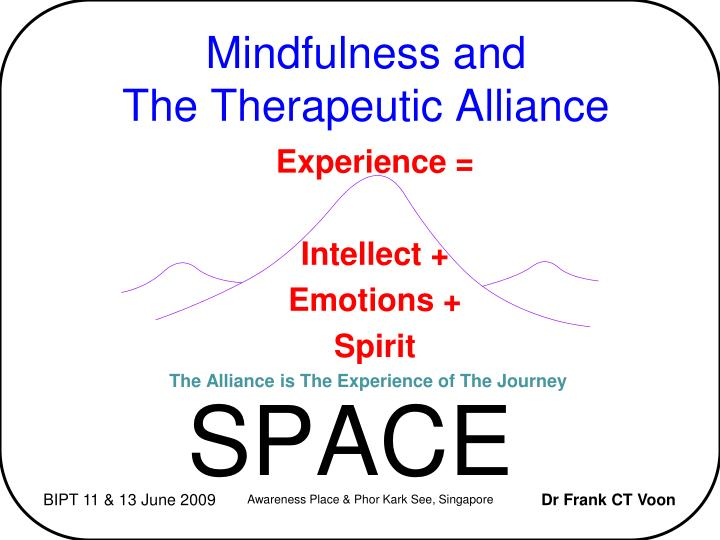 mindfulness and the therapeutic alliance n.