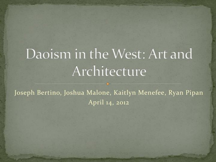 daoism in the west art and architecture n.