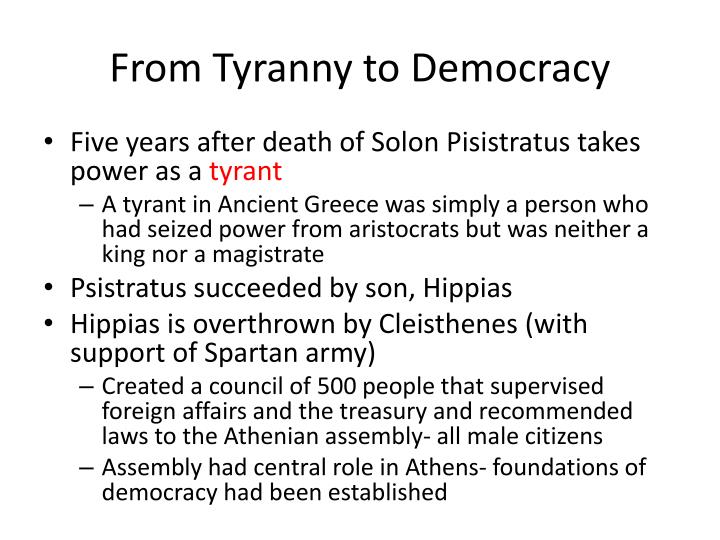 pisistratus and sons Sparta versus democracy in athens the tyrant pisistratus died in 527 he was succeeded by his two sons who ruled jointly – more of the succession and dynasty.