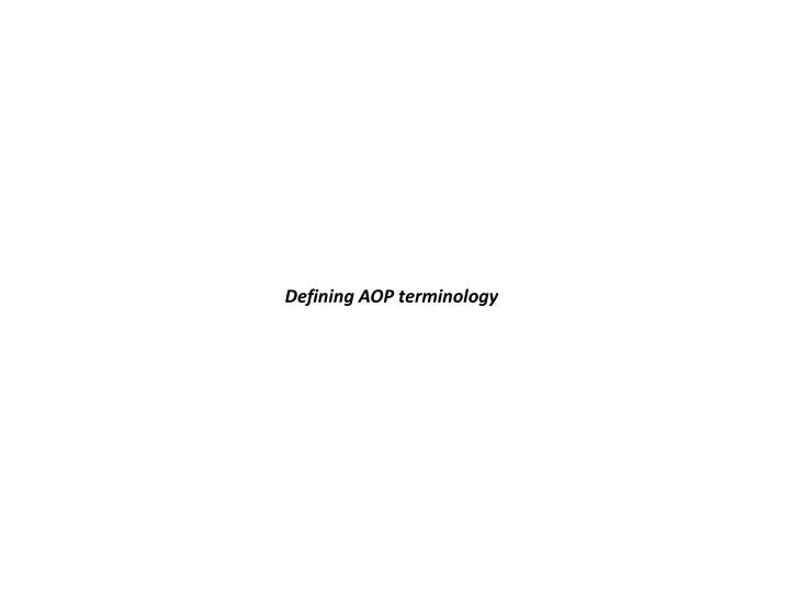Defining AOP terminology