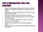 top 8 prevention tips for dancers