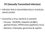 sti sexually transmitted infection