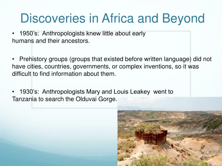 discoveries in africa and beyond n.