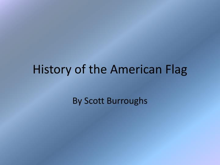 history of the american flag n.
