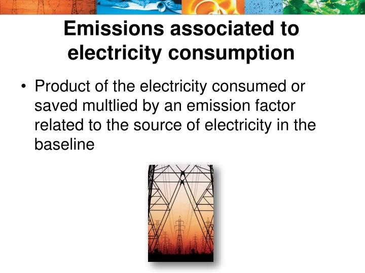 Emissions associated to electricity consumption