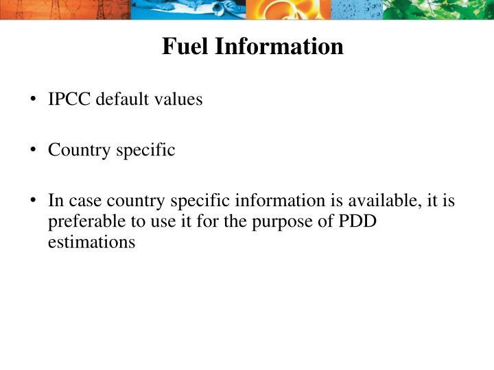 Fuel Information