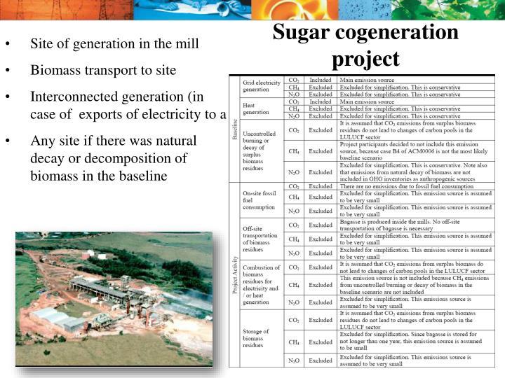 Sugar cogeneration project