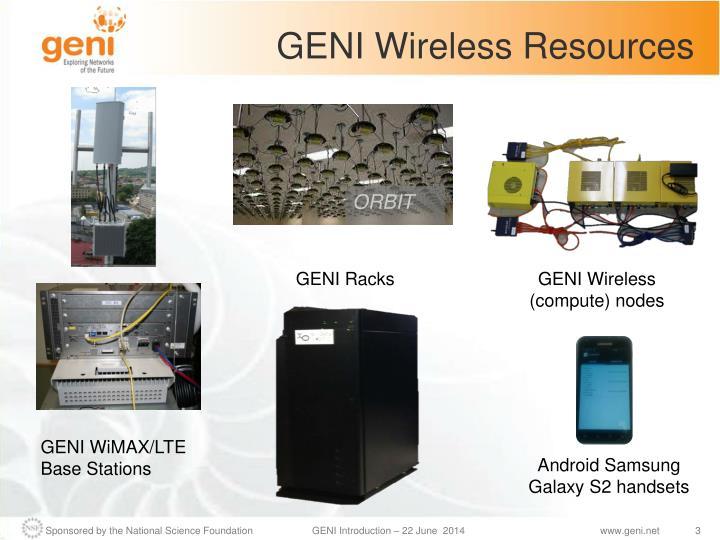 Geni wireless resources