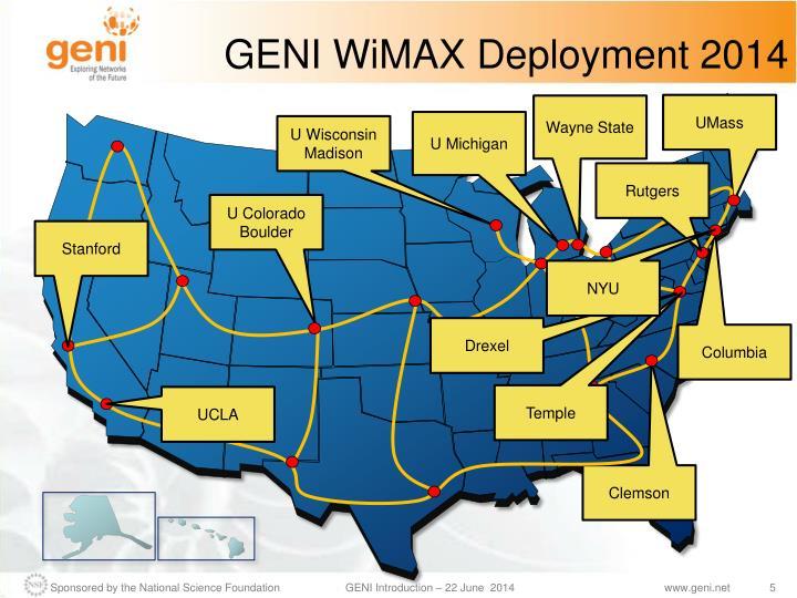 GENI WiMAX Deployment 2014