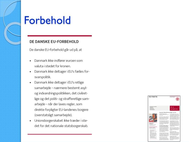 Forbehold