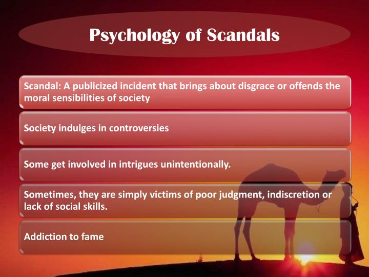 Psychology of Scandals