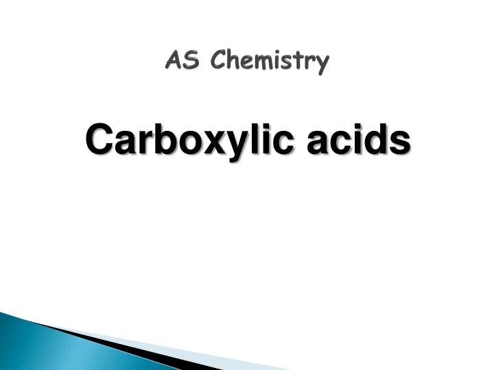 AS Chemistry
