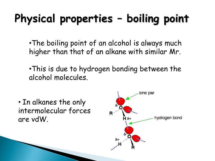 Physical properties – boiling point