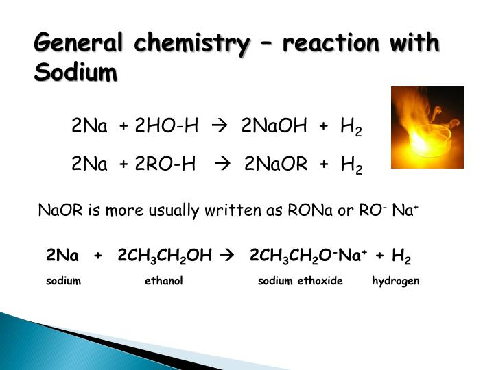 General chemistry – reaction with Sodium