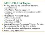 afdc fc hot topics