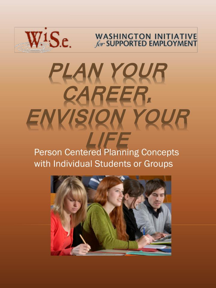 person centered planning concepts with individual students or groups n.
