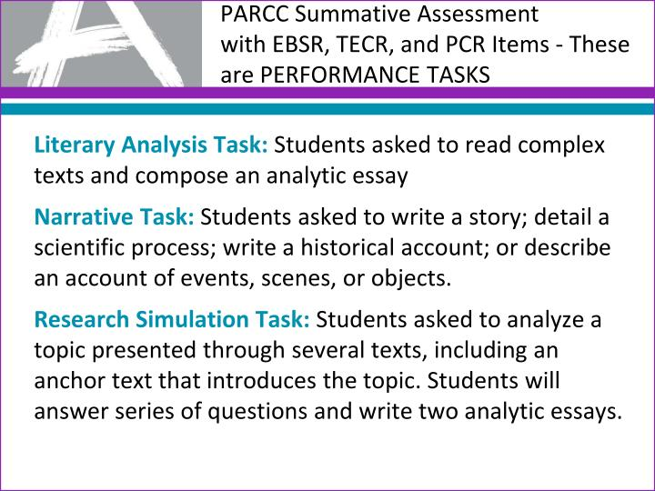 PARCC Summative Assessment