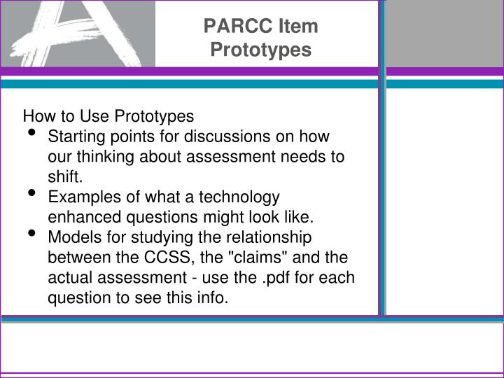 PARCC Item Prototypes
