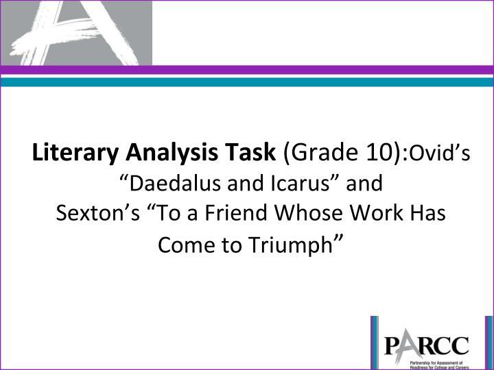 Literary Analysis Task