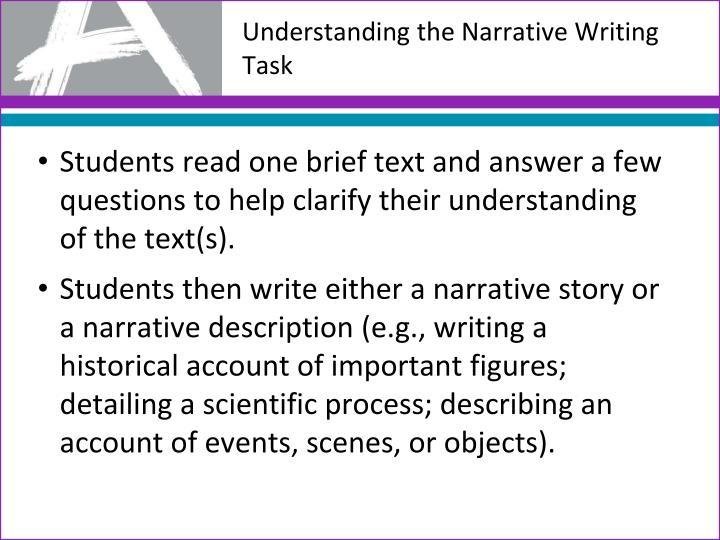 Understanding the Narrative Writing Task