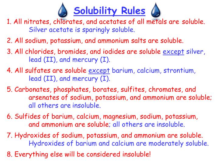 solubility and test tube Chemistry lab report 'solubility rules and precipitation reactions chemistry lab report 'solubility rules and precipitation 5 test tubes, a.
