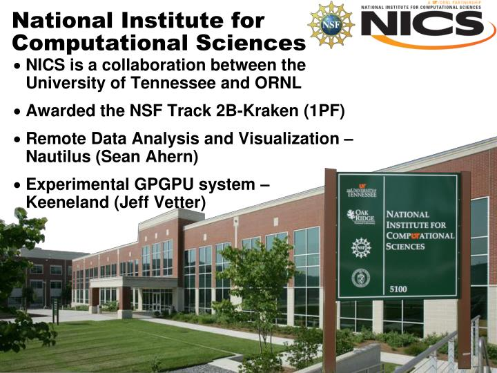 national institute for computational sciences n.