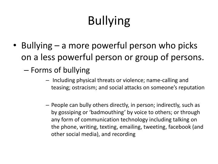 technology and bullying Cyberbullying is bullying that takes place over digital devices like cell phones, computers, and tablets.