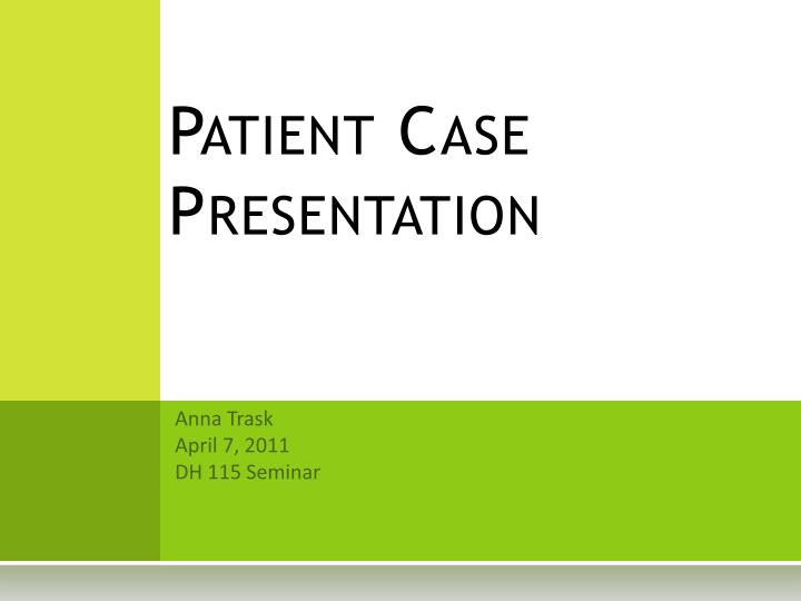 how to end a case presentation
