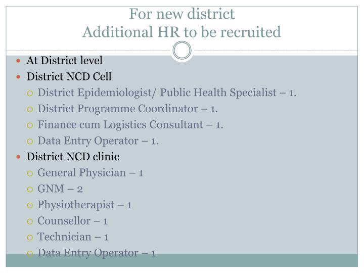 For new district