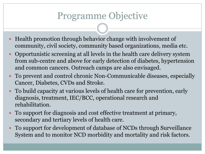 Programme objective
