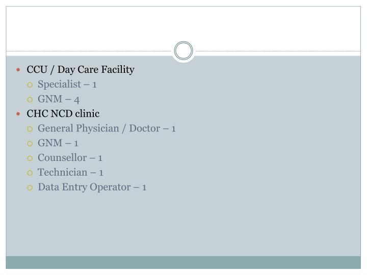 CCU / Day Care Facility