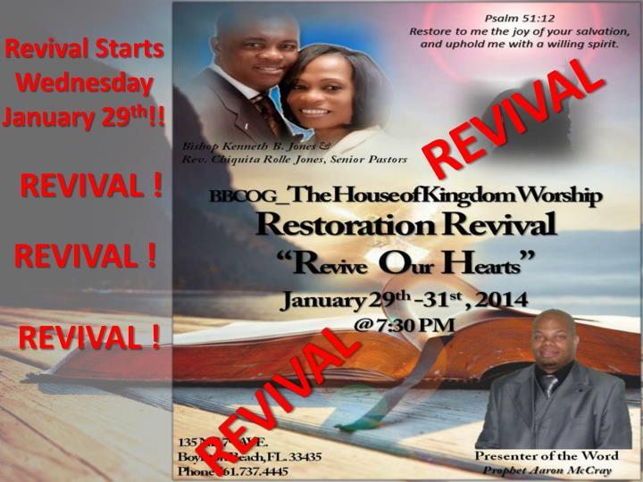 Revival Starts