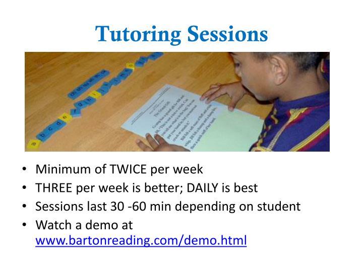 Tutoring Sessions
