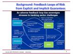 background feedback loops of risk from explicit and implicit guarantees