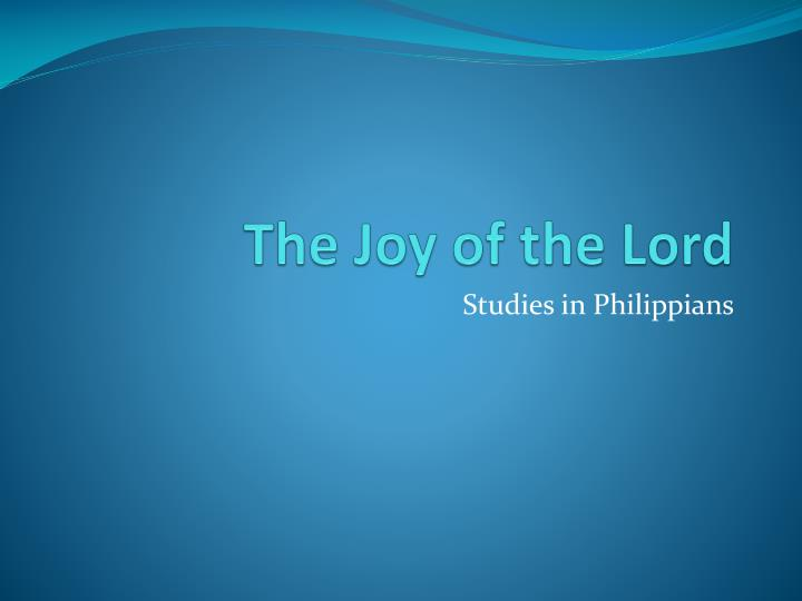 the joy of the lord n.