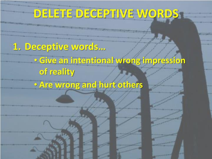 Ppt Words To Delete Powerpoint Presentation Id2135190