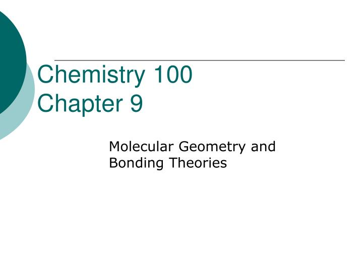 chemistry 100 chapter 9 n.