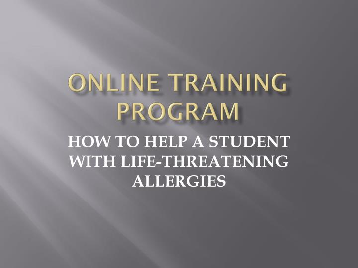online training program n.