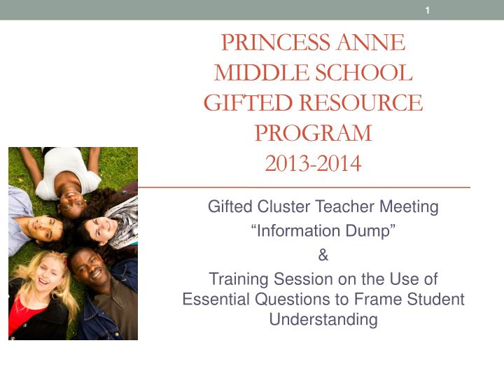 princess anne middle school gifted resource program 2013 2014 n.