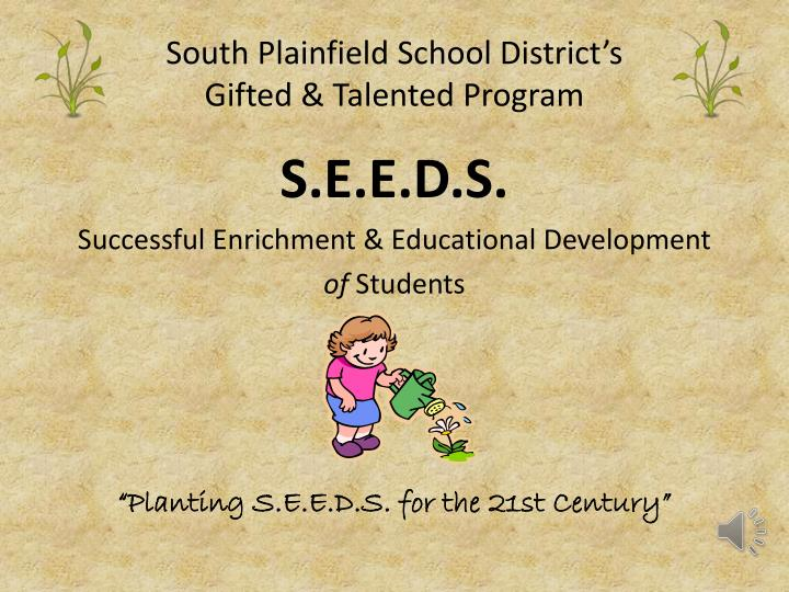south plainfield school district s gifted talented program n.