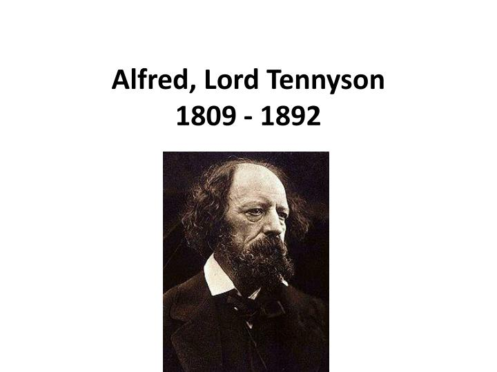 an introduction to the history of wilfred owen and alfred lord tennyson