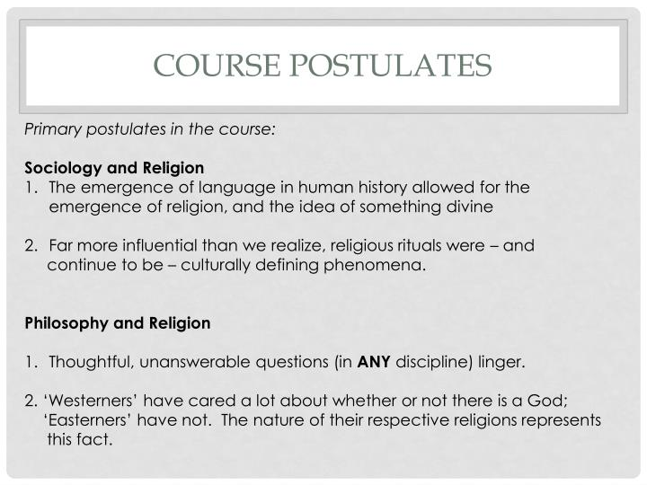Course postulates