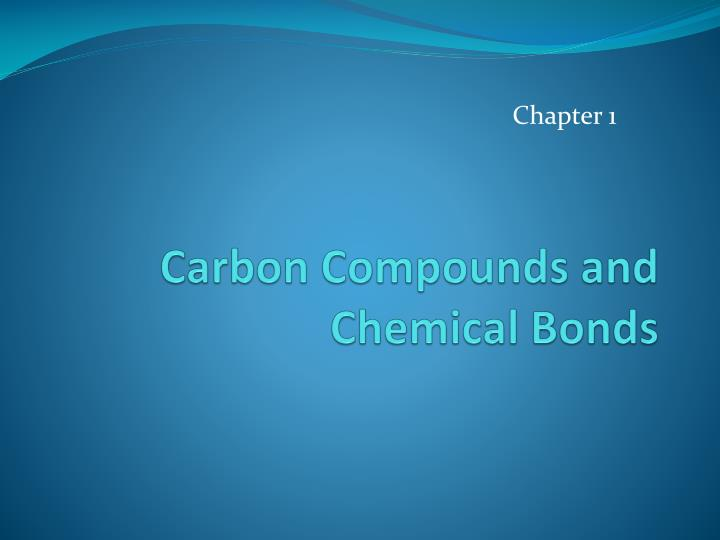 carbon compounds and chemical bonds n.