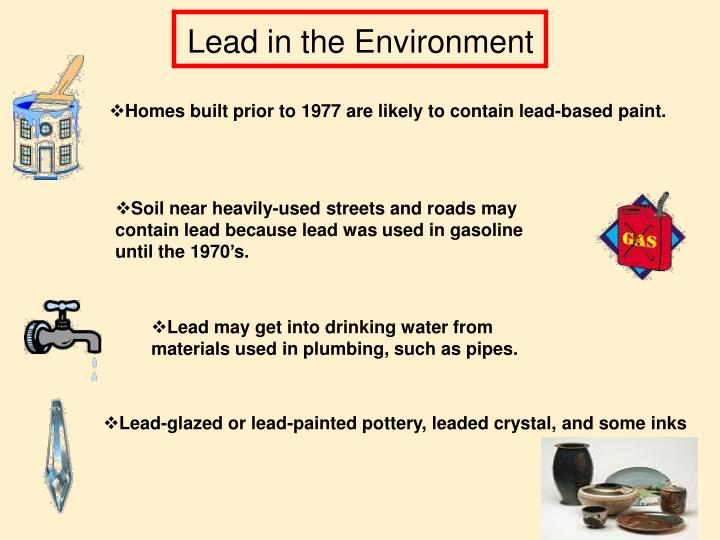 Lead in the Environment