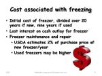cost associated with freezing
