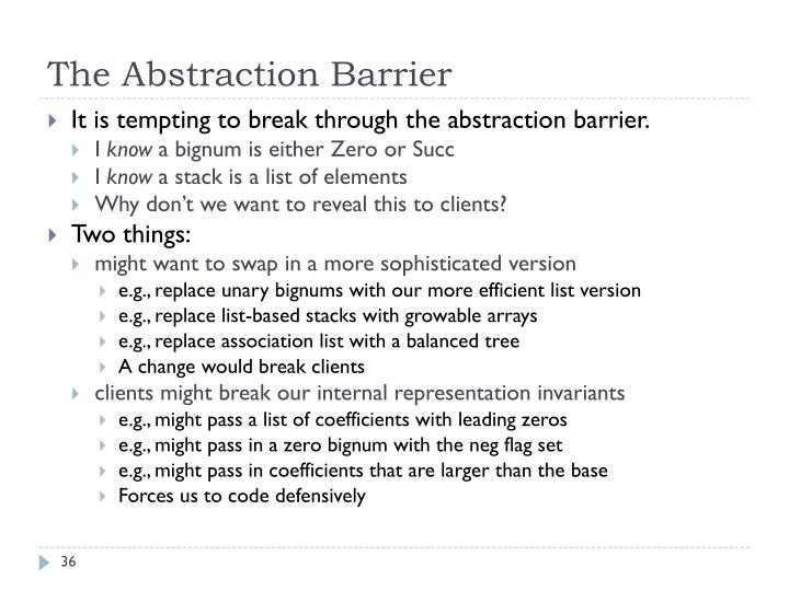 The Abstraction Barrier
