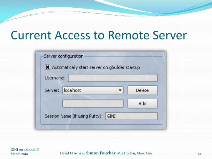 Current Access to Remote Server
